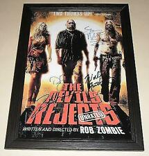 "THE DEVIL'S REJECTS SIGNED & FRAMED 12""X8"" POSTER"