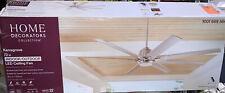 Home Decorators Kensgrove 72 in. LED Indoor/Outdoor Brushed Nickel Ceiling Fan