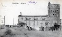 CPA 11 COURSAN L'EGLISE  (CPA ANIMEE