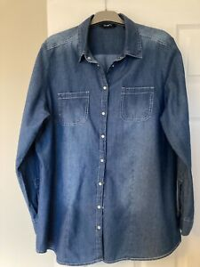 SimplyBe Blue Denim Shirt Size 18