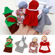 Elegant Amusive Little Red Riding Hood Story Play Game Finger Puppets Toy Set