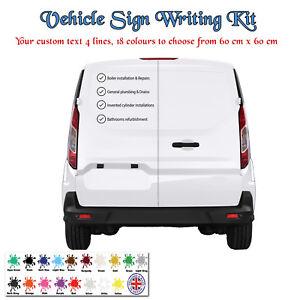 Car / Van Business Signage Kit - Personalised Custom Sticker - DIY Advertising