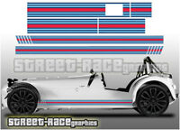 Caterham Martini 008 racing stripes graphics stickers decals Superlight R500