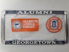 1 - Officially Licensed Georgetown Hoyas Alumni License Plate Frame - Metal