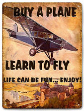 AIRPLANE PILOT CAPTAIN METAL SIGN /great gift RETRO vintage style wall decor 552