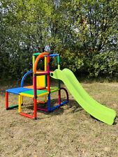Moveandstic Olaf Spielturm mit Rutsche - Mehrfarbig (MAS-6536-Olaf)