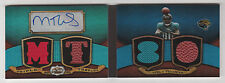 2009 TRIPLE THREADS MIKE THOMAS RC AUTO AUTOGRAPH QUAD JERSEY BALL BOOKLET 3/5