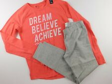NWT GAP Fit Girl's 2 Pc Outfit Graphic T-Shirt Leggings L(10-11) New Free Ship