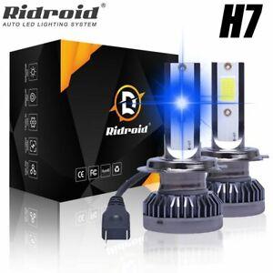 Mini 8000K Ice Blue H7 LED Headlight Bulbs 26000LM Conversion Kit High Low Beam