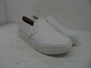 Nurse Mates Women's Slip-On Adela Slip-Resistant Work Shoe White Size 6M