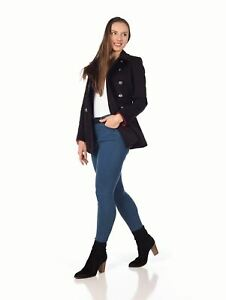 De La Creme - Women's Military Style Pea Coat