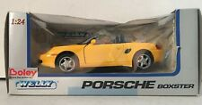 1:24 Scale Porsche Boxster Yellow Detailed Welly Die Cast Model Car
