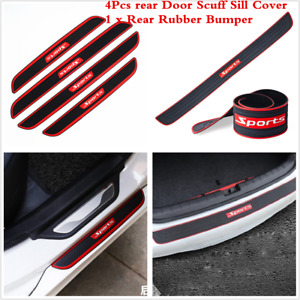 5Pcs Car Door Sill Strip Trunk Rear Bumper Protector Trim Protection Cover