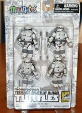 NICKELODEON TEENAGE MUTANT NINJA TURTLES MINIMATES BLACK & WHITE BOX SET SDCC