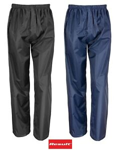 BOYS GIRLS RESULT WATERPROOF TROUSERS KIDS RAIN PUDDLE OVERTROUSERS SUIT