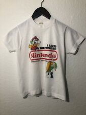 Vintage Rare 1990 Nintendo Fruit Snacks T-Shirt Legend of Zelda Super Mario
