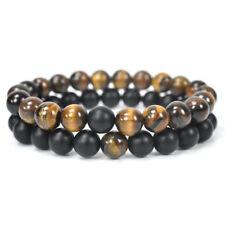 Fashion Cross Beaded Wooden Beads Rosary Adjustable Black Men Charm Bracelets