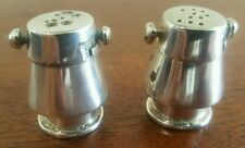 Vintage  Silver 925 Miniature Salt/Pepper Shakers Made In Mexico Marked TO-39