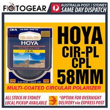 Genuine HOYA CPL 58mm CIR-PL Circular Polarizing Camera Lens Filter Canon Nikon
