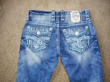 LN Condition Rock Revival Scion Slim Straight Mens Jeans Size 32