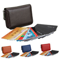 Mens Womens RFID Blocking ID Credit Card Holder Leather Pocket Case Purse Wallet