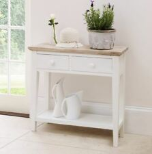 Florence Console Table. STUNNING Kitchen Hall Table 2 Drawers and Shelf W 82cm White
