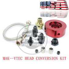 VTEC HEAD CONVERSION KIT - LS B18 B20 ALUMINUM ADAPTER PLATE SANDWICH SET USA