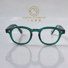 Retro Johnny Depp glasses men's women's green acetate eyeglasses rx lens