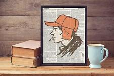 Catcher In The Rye Upcycled Recycled Vintage Dictionary Page Art Print A4