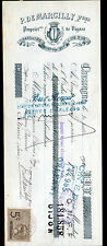 """CHASSAGNE-MONTRACHET (21) VINS """"P. de MARCILLY Freres Propriétaire"""" en 1910"""