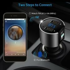 Car MP3 Player Bluetooth FM Transmitter Radio Adapter Dual USB Port Charger 1FK