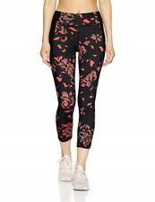 *** $69.99 Under Armour UA Women's Mirror Printed Crop Legging BLACK - M
