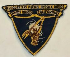 ~VINTAGE HEADQUARTERS PACIFIC MISSILE RANGE POINT MUGU CALIFORNIA PATCH
