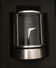 Movado Brushed Chrome Rotating Clock, # TSI000152M, Engraved Free, New In Box