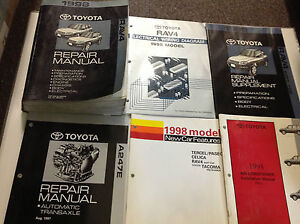 1998 Toyota RAV4 Rav 4 RAV4 Service Shop Repair Manual SET W EWD TECH B + MORE x