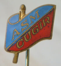 ASM CUGIR Vintage 1960s Club crest type badge Stick pin 12mm x 16mm