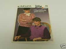 Pattern Jaeger Hurry Knits quick 'n easy Vest/Sweater French Instruction CRAFT