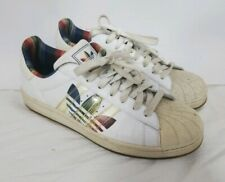 RARE Adidas Mens Vtg 2007 White Trefoil Tennis Shoes Sneakers Size 9.5