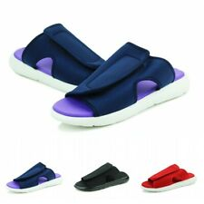 39-44 Mens Open Toe Slip On Casual Slippers Shoes Outdoor Walking Sandals Flat B