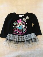 Disney Minnie Mouse Girls Dress 18-month Black Lace Pink