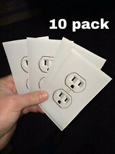 Fake Electrical Outlet Power Socket Stickers 10-Pack Airport Prank Joke Funny