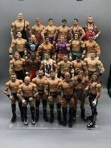 Lot Of 50 Basic Mattel WWE WWF Wrestling Figures Stone Cold Flair Reigns Rock