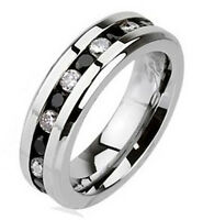 Stainless Steel Eternity Ring with CZ Size 6