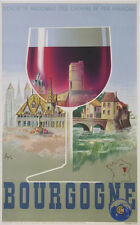 VINTAGE POSTER OF FRENCH RAILWAY OF BOURGOGNE BY GERALE circa 1939