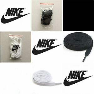 NIKE Flat Shoelaces Replacement - Black / White / Others - AIR MAX 1,90, FORCE 1