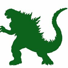 "Godzilla Vinyl Decal 6"" Green"