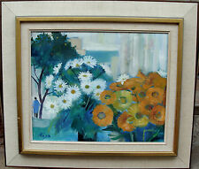 Hans Ripa 1912-2001, Blumenarrangement am Fenster, um 1960