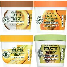 2 Pack Garnier Fructis 1 Minute Hair Treat 3.4 FL OZ Choose Your Favorite