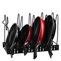 Kitchen Storage Rack Pot Frying Pan Organizer Cookware Shelves Holder Stand