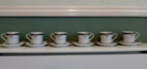 Six Teacups and Saucers Made In China